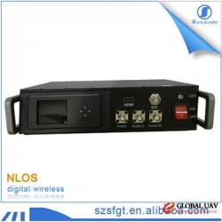 AV Link Wireless HD Video COFDM Transmitter 15km - 20km for Police & UAV & Military