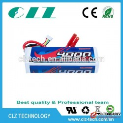 Good discharge performance 20-30C 3S 12V 4000mah lipo battery for rc helicopter/RC drone UAV