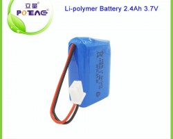 103040 rechargeable lipo battery 3.7v 2400mah for UAV