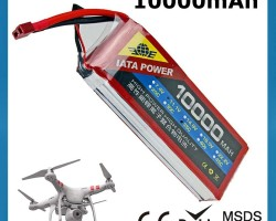IATA High Performance RC Drone Battery 35C Continuous 70C Burst 11.1V 10000mAh Lipo Battery for UAV