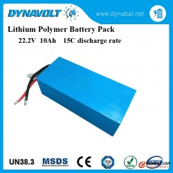 High quality 15C discharge rate rechargable Lithium Polymer Battery Pack 22.2V 10Ah for model Airpla