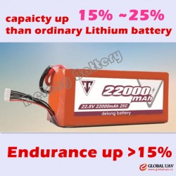High Voltage capacity improve 15% UAV Drone Agricultural Plant Protection Lithium polymer Battery 22