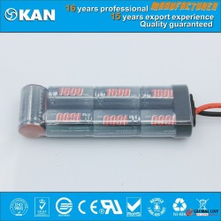 KAN Ni-MH 8.4V 7xSC1600mAh rechargeable battery pack for mini rc car, boat, helecopter, drone, UAV w