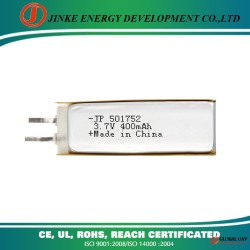 Li polymer UL CE certification standard li-polymer battery 3.7v with 400mah for rc uva battery