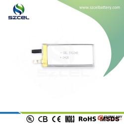 500 mAh UL certificated rechargeable li-polymer battery