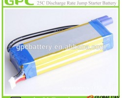 Car Jump Starter Battery-12V 5000mAh Li Polymer Battery Lithium Battery 25C High Discharge Rate Lipo