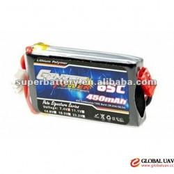 SR-LP450 lithium ion polymer battery packs 40C 450mAh 11.1V for static ship models