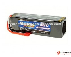 Radio controlled toys 6S1P 22.2v rc rechargeable lipo battery 3700mAh lithium polymer battery flat c