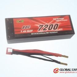 2S2P 7.4V7200mah 80C RC rechargeable li-po battery pack for uav drone crop sprayer