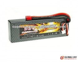 Electric aircraft 35C 2S 7.4v rechargeable lipo battery 5000mAh lithium polymer battery flat cells p