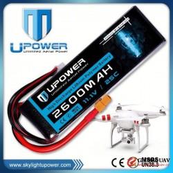 Upower 2200mah 3s1p 14.8v lipo rc battery 2200mah 4cell for UAV FPV airplane models