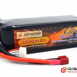 lipo factory lightest type in the marketplace RC battery lipo 6000mah/5000mAh 22.2V 30C rechargeable