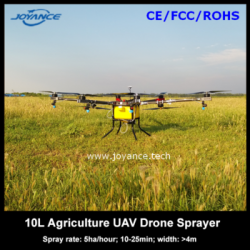 Helicopter sprayer drone, uav agriculture crop duster 10L with intelligent flight control system and