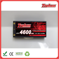 High rate 4600mAh 2S 7.4V 60C 120C Lipo Battery Hard case for rc car