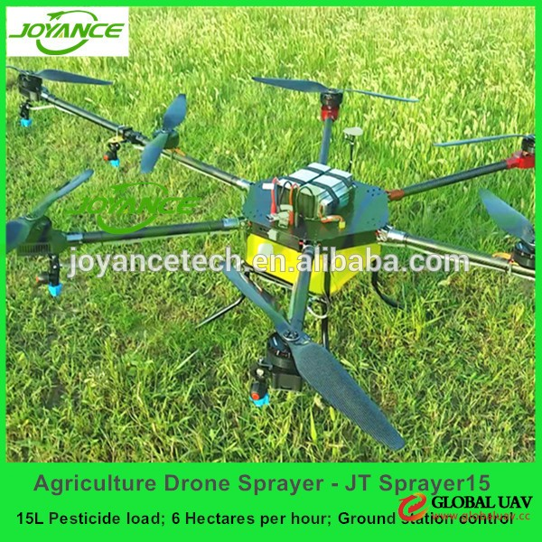 Best quality GPS agriculture crop spraying drone uav 15kg with CE
