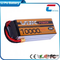 Large Capacity 25C Lipo Battery Cell 3.7V 10000mAh for UAV