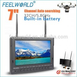 "Feelworld 7"" PVR Monitor Automatic Antenna Switching Unmanned Helicopter UAV System"