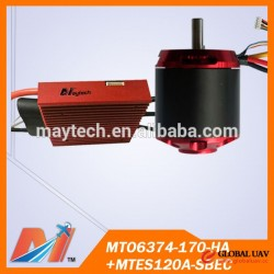 Maytech e-bike 6374 170KV hall sensor motor and 120A 12S speed controller 10%OFF