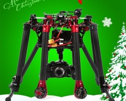 248mm height carbon fiber electric retractable landing skid with servo for professional uav quadcopt