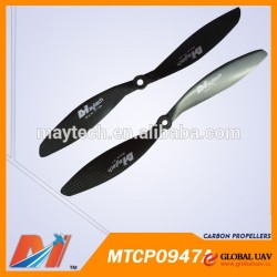 Maytech factory balanced 0947 UAV carbon propellers for aerial filming drones