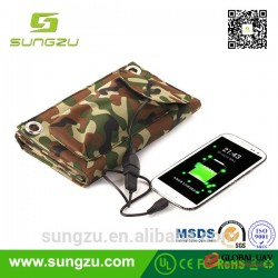high efficiency universal solar panel charger bag 8W~36W with custom power,foldable solar panel char