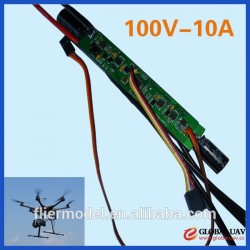 100V 10A esc for brushless eletronic servo moters for rc Airplane