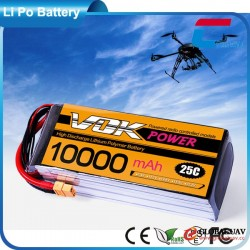 Hot Sale 6s Lipo Battery 22.2v 10000mah 25C For RC Model Aircraft Quadcopter Drone UAV