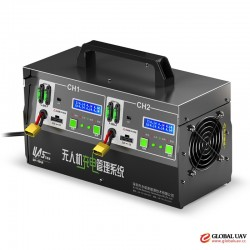 Dual lipo battery charger 600W/30Ax2 for agriculture drone uav spray