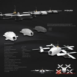 Youbi XV-130 China RC Toys 1360-3600kv Brushless Motor Long Distance UAV Drone