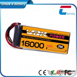 14.8V 4S 16000mAh 25C Cheap Aerial Drones & UAVS Lipo Battery