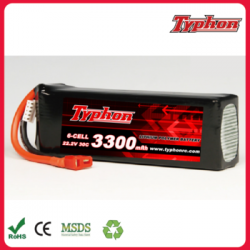 Typhon 3300mAh 30C 22.2V 6S Grade A LiPo Battery Packs For RC Hobby Drone UAV Helicopter & A