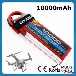 Wholesale Price Grade A Battery Cell Go Drone Uav Helicopter 10000Mah 45C 7.4V Rc Lipo Battery
