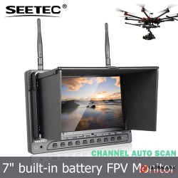 7 inch fpv radio transmitter mini camera rc hexacopter airplane uav lcd wireless monitor smart drone