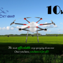 2016 New model TYX 10kg Agricultural spraying drone hexacopter crop spraying UAV