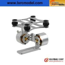 2-axle Aluminum uav gimbal with Motor for Gopro3 DJI Phantom