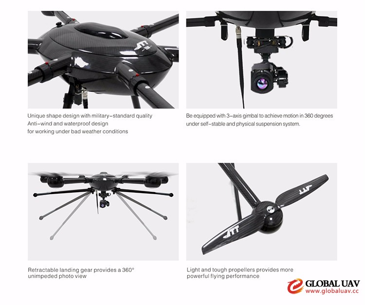 20KM long range video transmission industry uav system T60 with HD 30X zoom camera