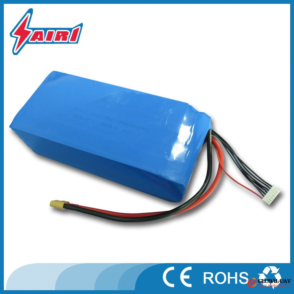22.2V 6S 25C 22000mAh lithium polymer battery packs for golf troly , cart , EV