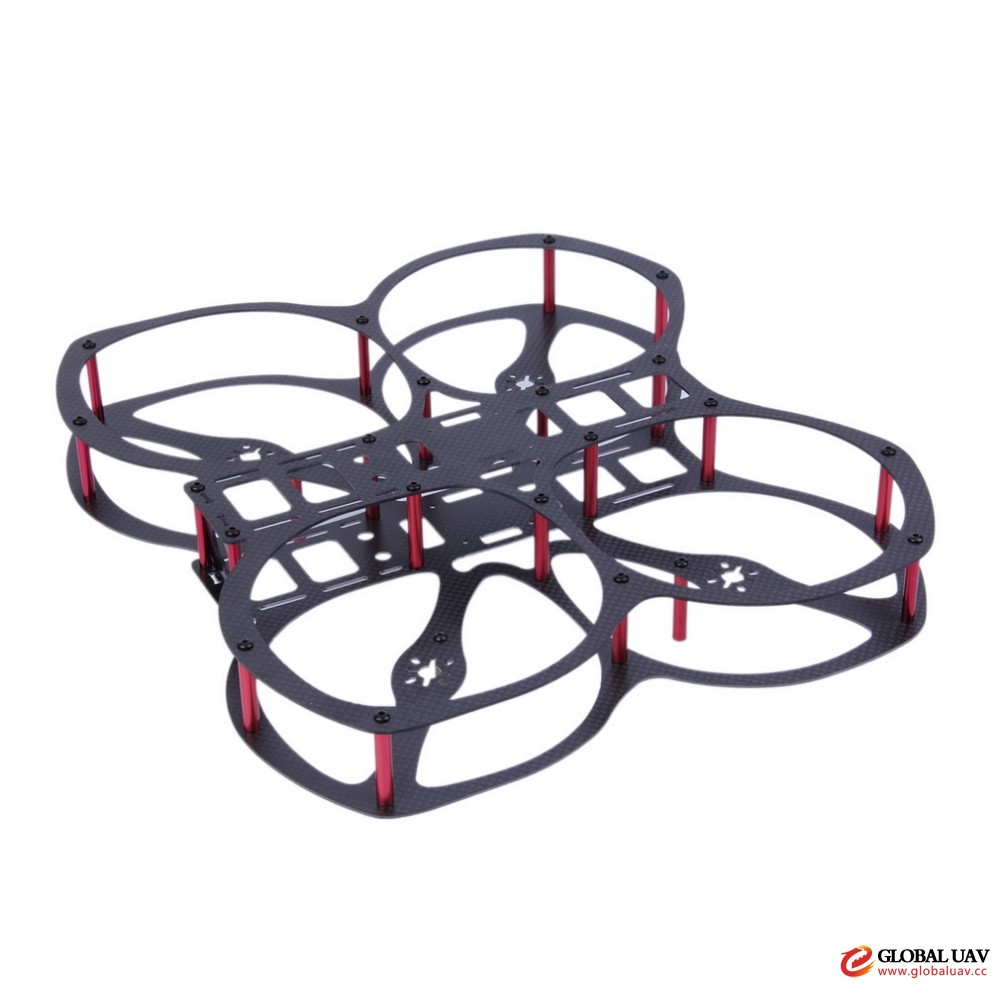 H250 Q4 Mini 4-Axis Class Fiber f<em></em>rame Kit with Propeller Guard for Quadcopter RC Aircraft UAV