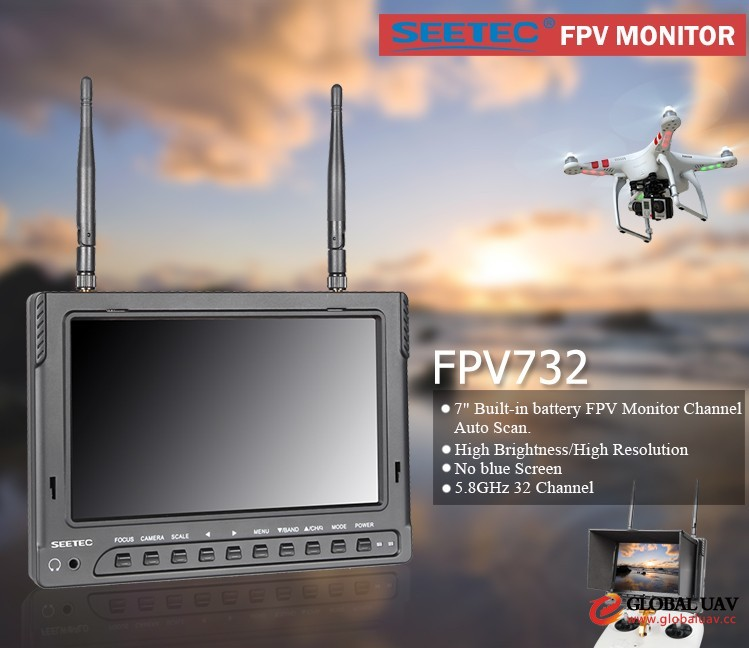 7 inch fpv radio transmitter mini camera rc hexacopter airplane uav lcd wireless mo<em></em>nitor smart drone