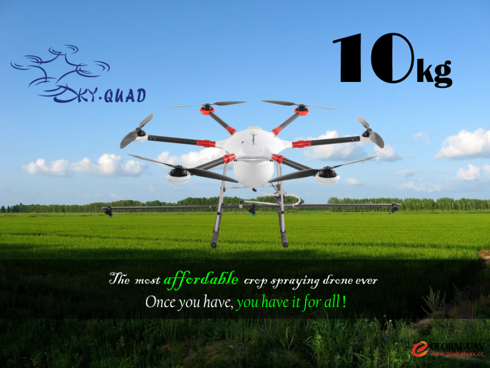 2016 New model TYX 10kg Agricultural spraying drone