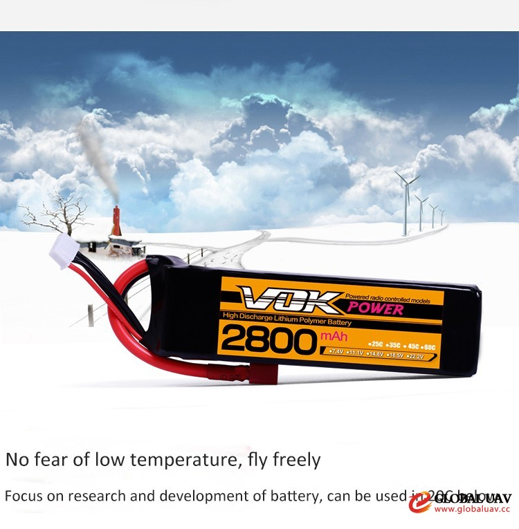 11.1V 3S 2800mAh 20C Cheap Aerial Dro<em></em>nes & UAVS RC Lipo Battery Pack