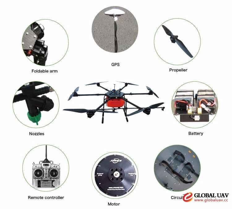 Agriculture Sprayer UAV Use Precision Simple Farm Machine Power