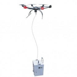 Tethered drone >8 hours day and night longtime surveillance
