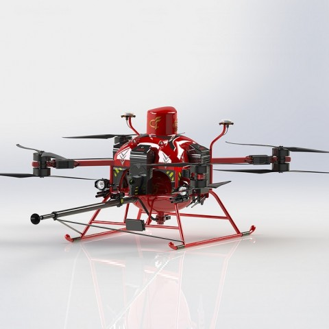 High-rise Dry Powder Fire Extinguishing  unmanned aerial vehicleGF-XMF/1